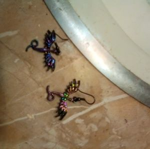 Hot Topic Dragon Earrings